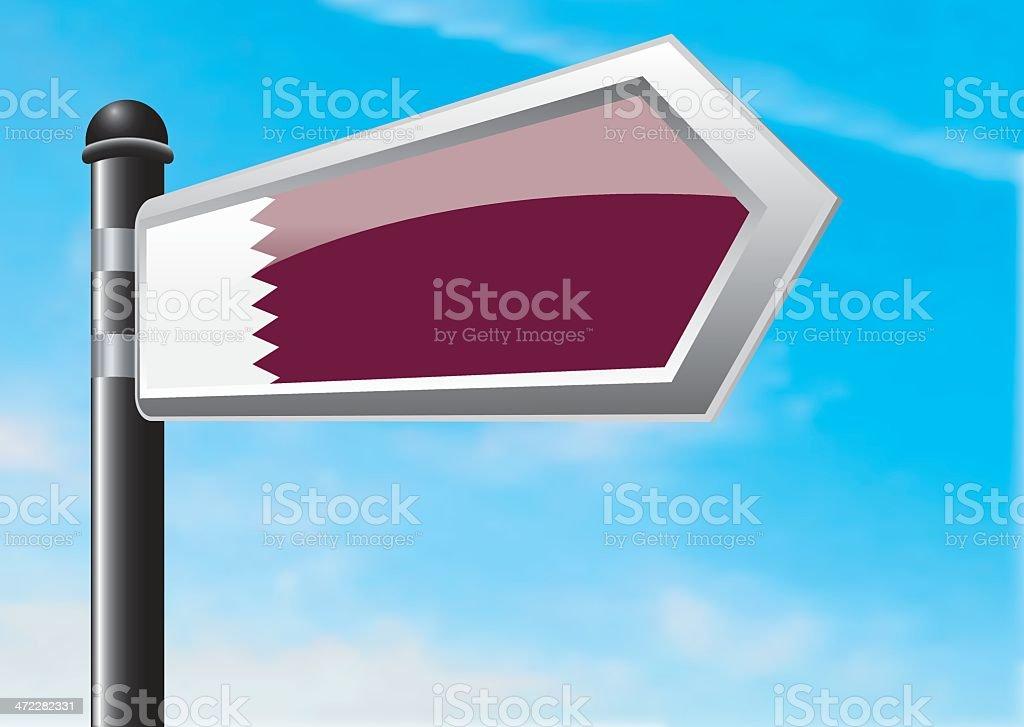 Destination: Qatar royalty-free stock vector art