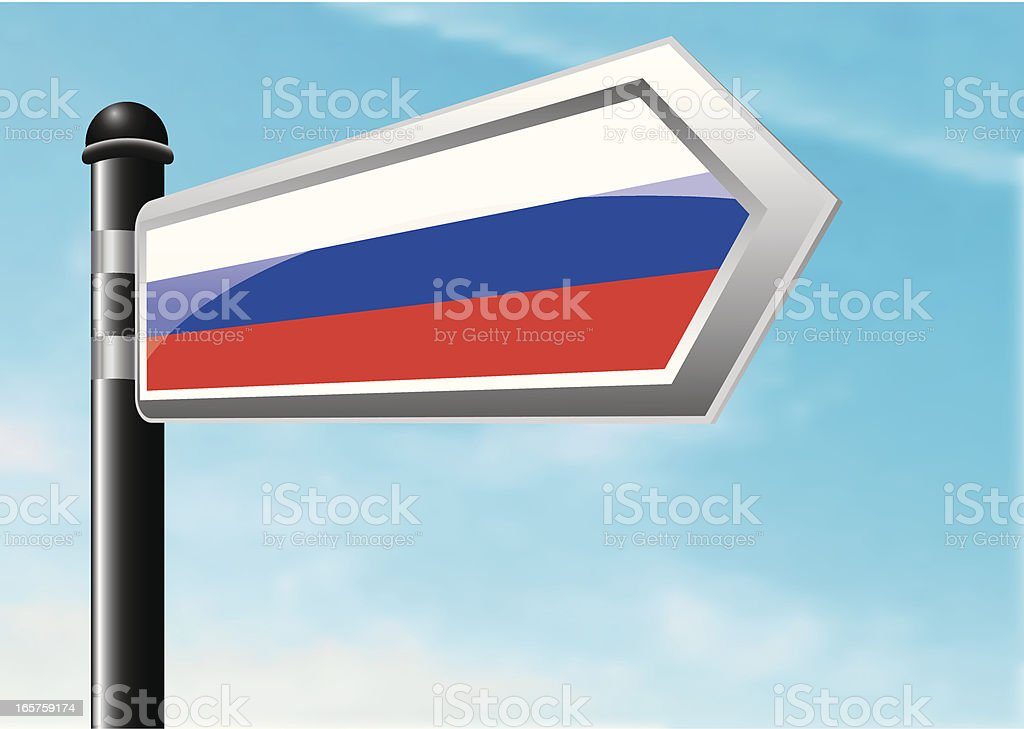 Destination: Russian Flag royalty-free stock vector art