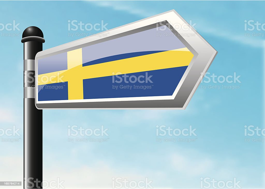 Destination: Sweden royalty-free stock vector art