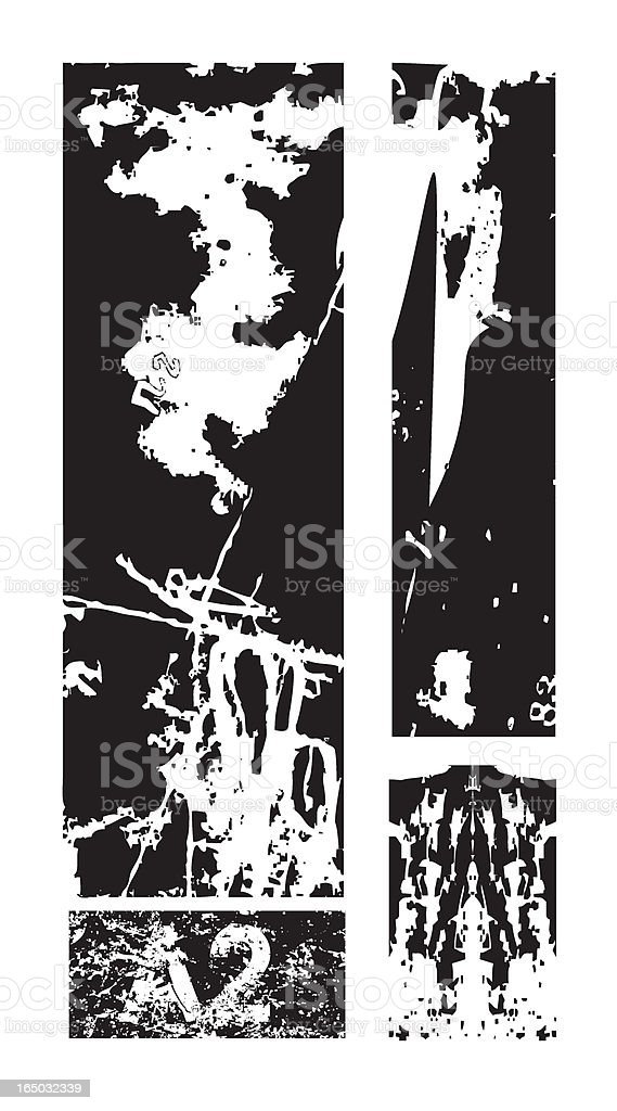 destroyed ------- vector composition royalty-free stock vector art