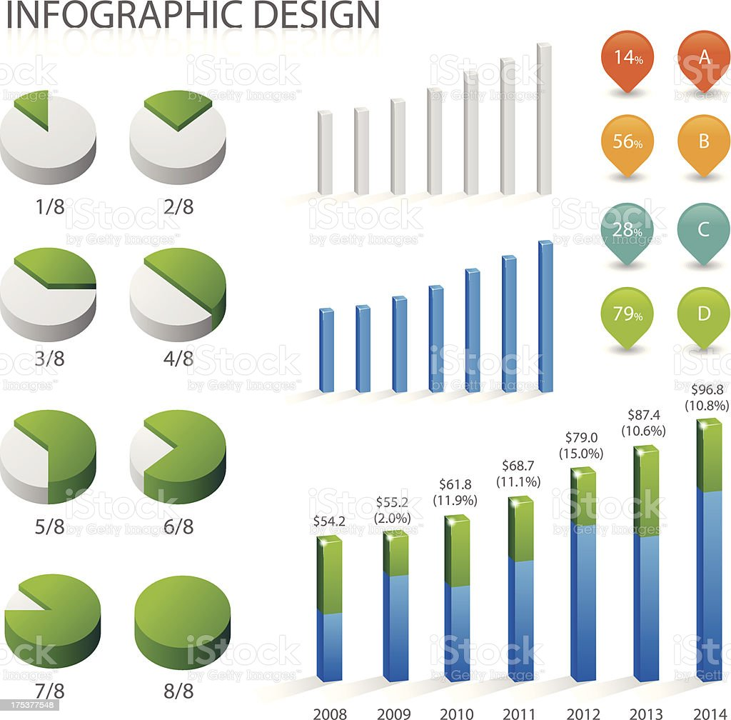 Detail info graphic vector illustration royalty-free stock vector art