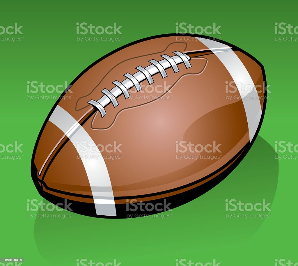 Detailed American Football vector art illustration
