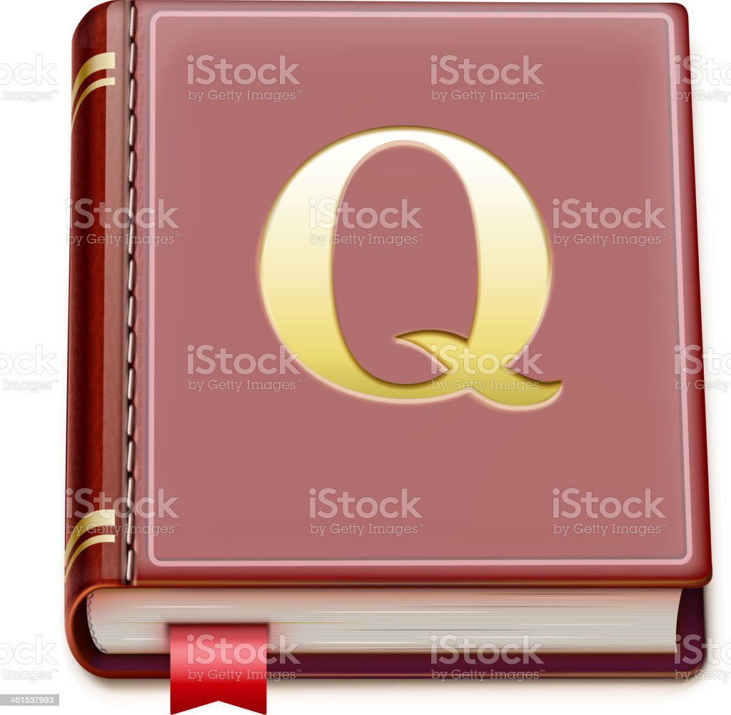 detailed book royalty-free stock vector art