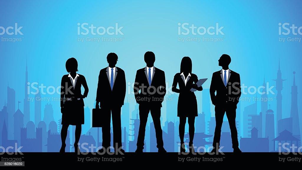 Detailed Business People vector art illustration
