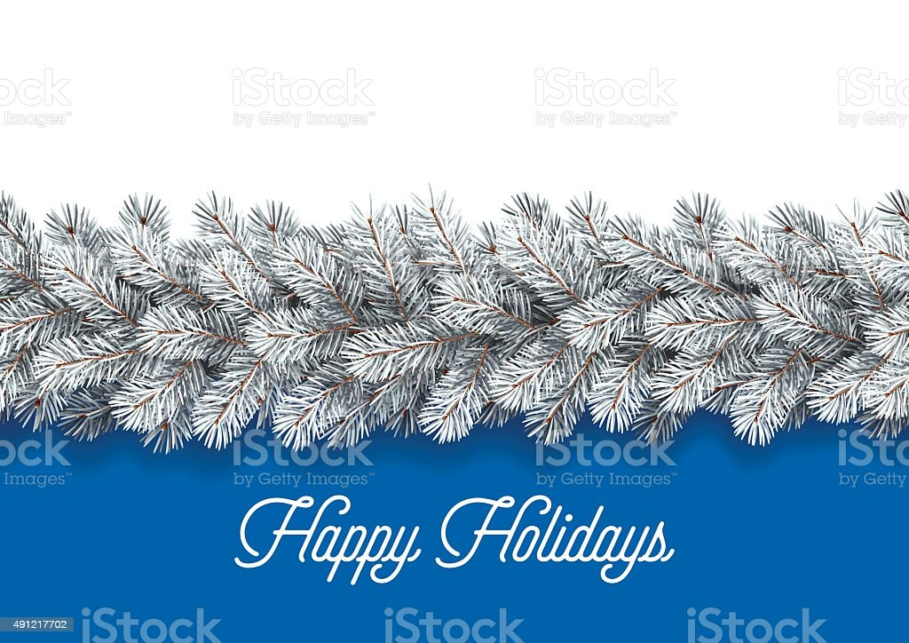 Detailed Christmas Decorations Card vector art illustration
