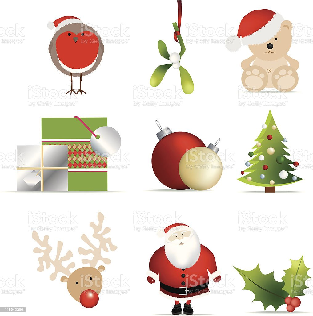 Detaillierte Weihnachts-Symbol set 2 Lizenzfreies vektor illustration