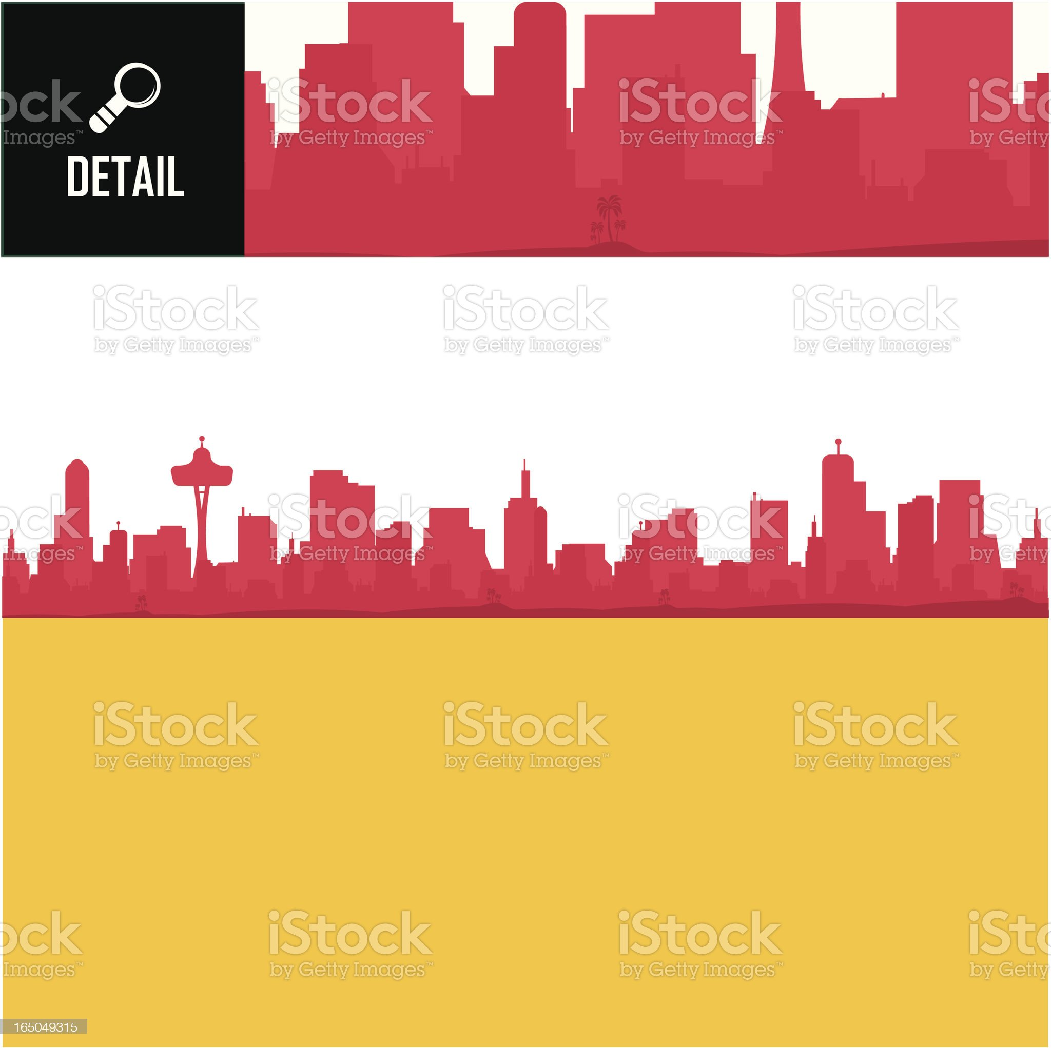 Detailed Cityscape royalty-free stock vector art