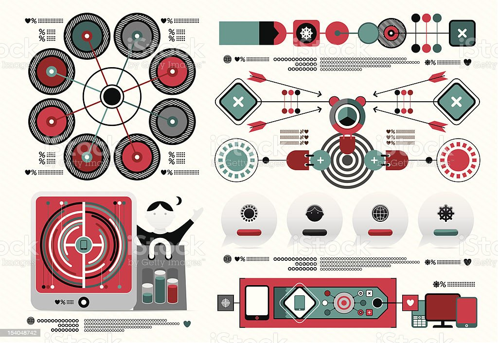 detailed collection for infographic royalty-free stock vector art