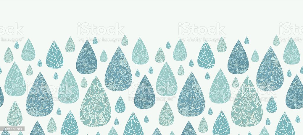 Detailed Drops Horizontal Seamless Pattern Ornament royalty-free stock vector art