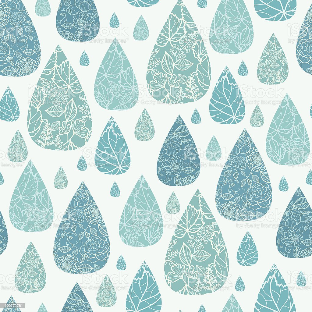 Detailed Drops Seamless Pattern Background royalty-free stock vector art
