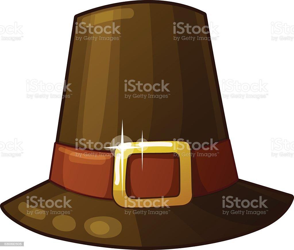 isolated pilgrim hat clip art vector images illustrations istock rh istockphoto com pilgrim bonnet clipart pilgrim hat clipart