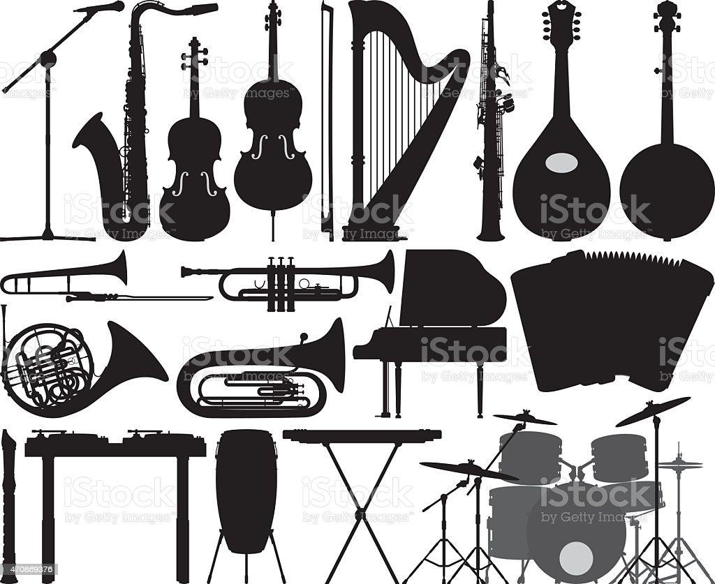 Detailed Instruments vector art illustration