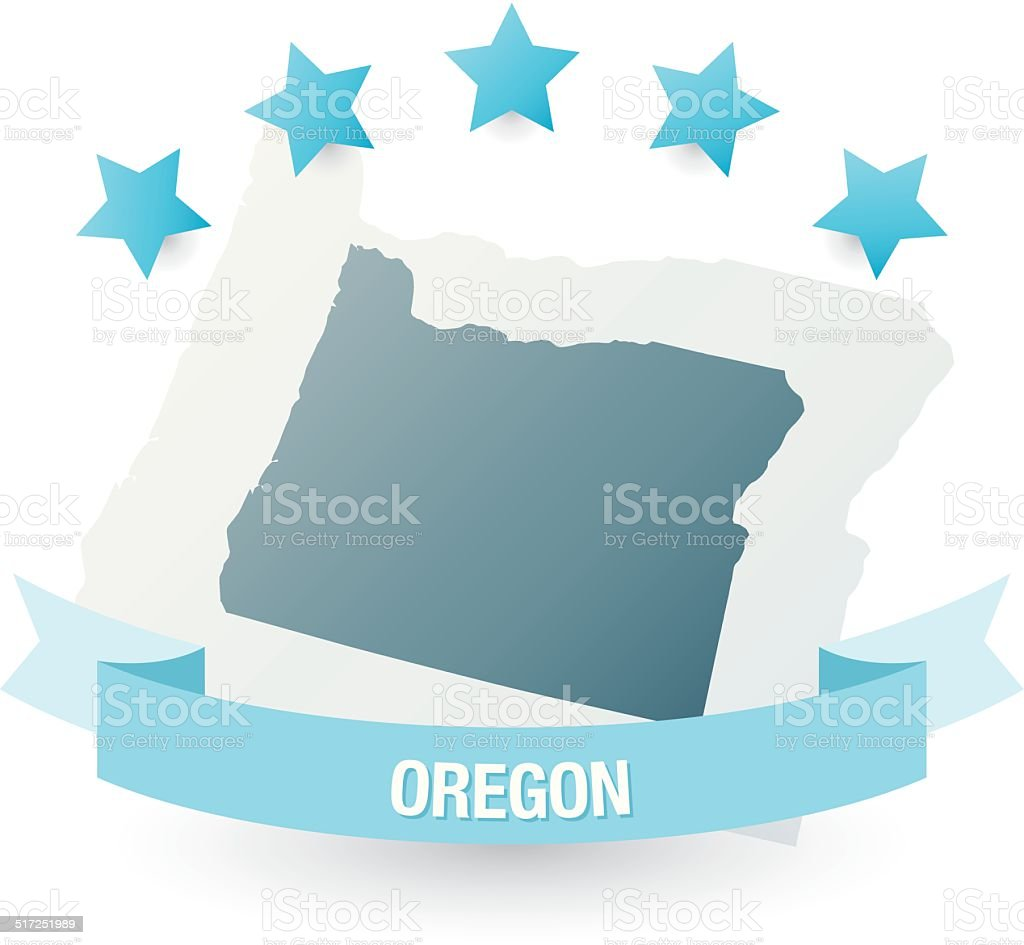 Detailed Map Of Oregon State Stock Vector Art  IStock - Map of oregon state usa