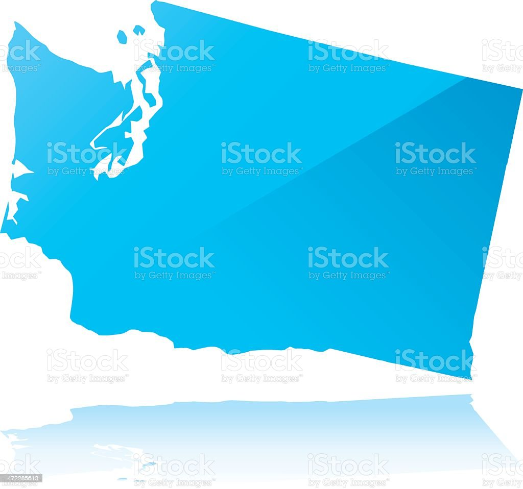 Detailed map of washington state royalty-free stock vector art