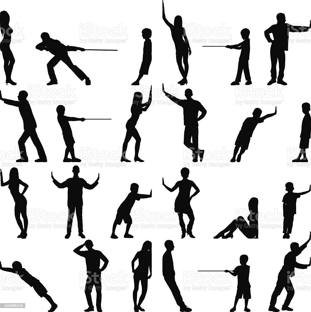Detailed People vector art illustration