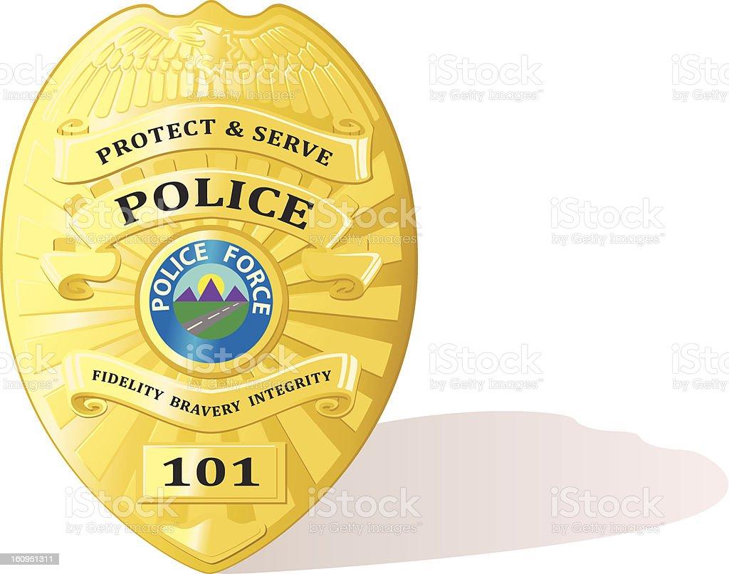 Detailed police badge vector vector art illustration