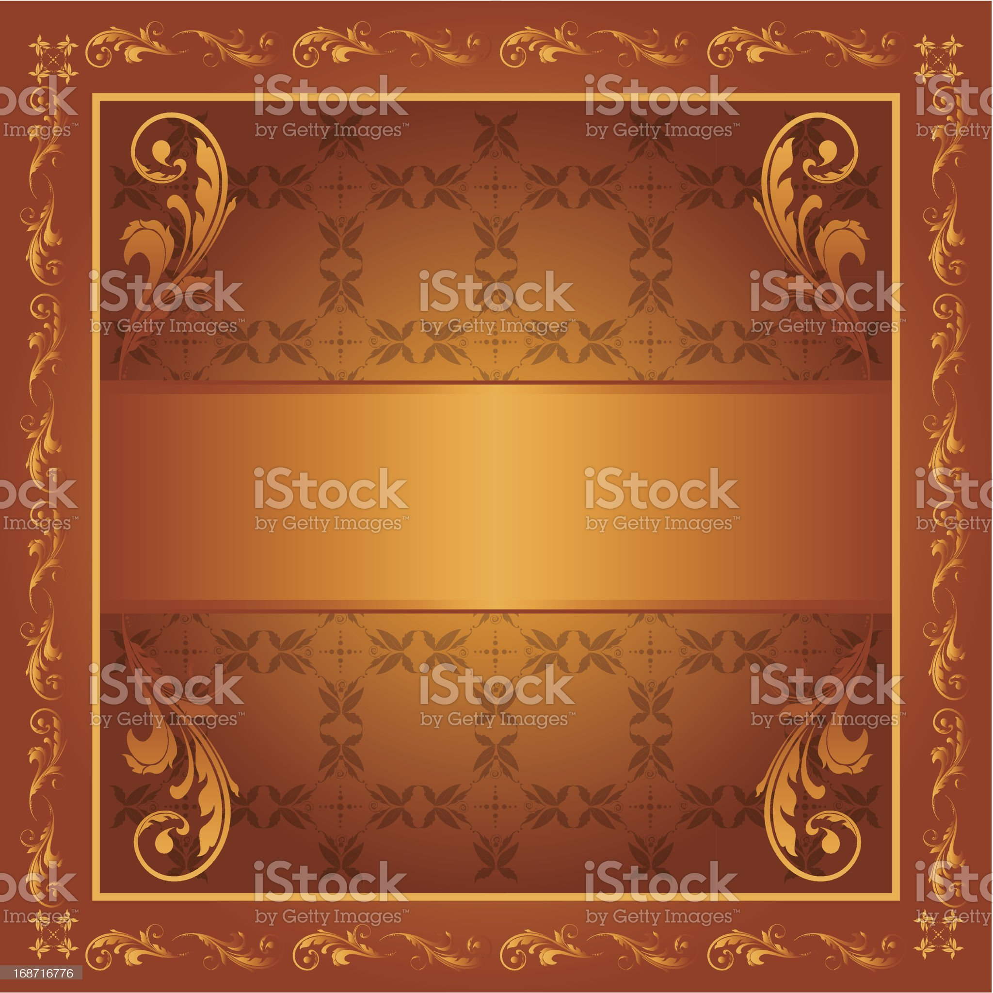 Detailed Scroll with Banner royalty-free stock vector art