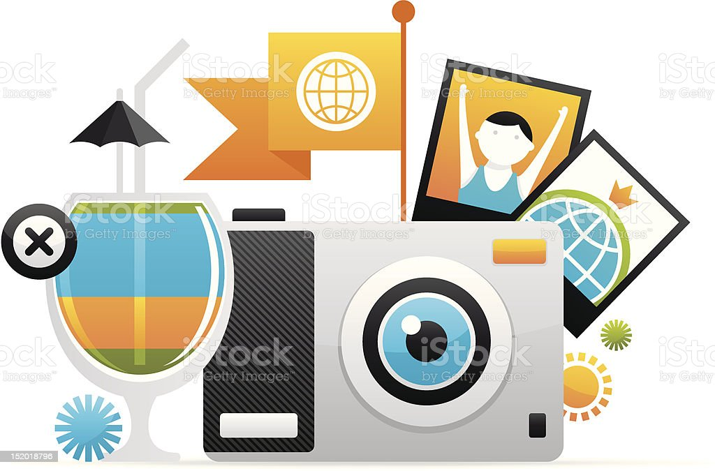 detailed travel icon royalty-free stock vector art