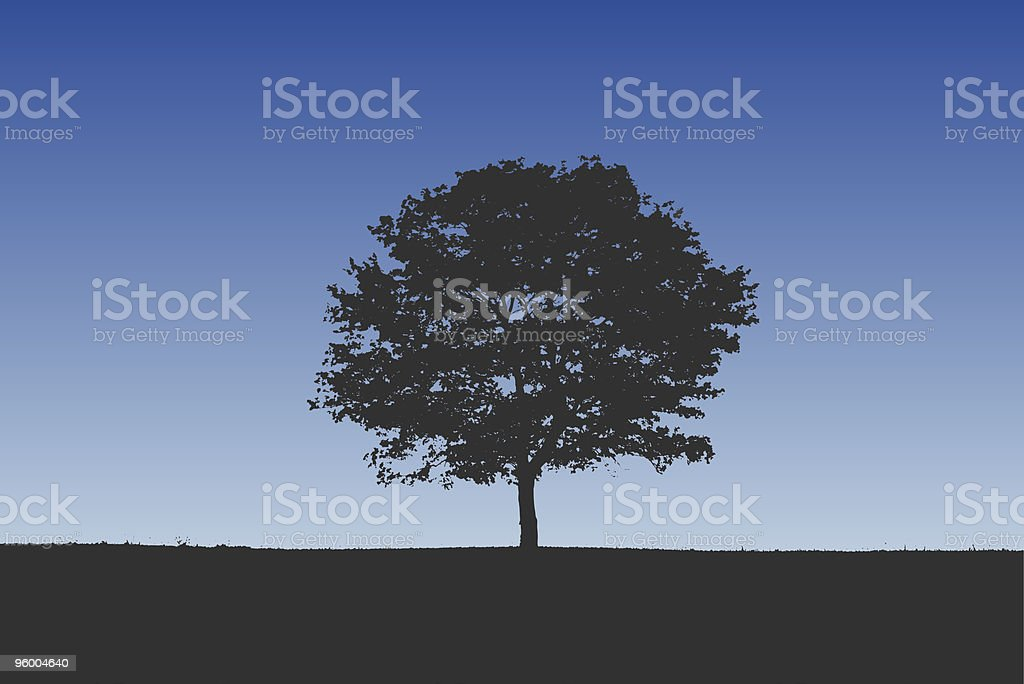 Detailed Tree Silhouette royalty-free stock vector art