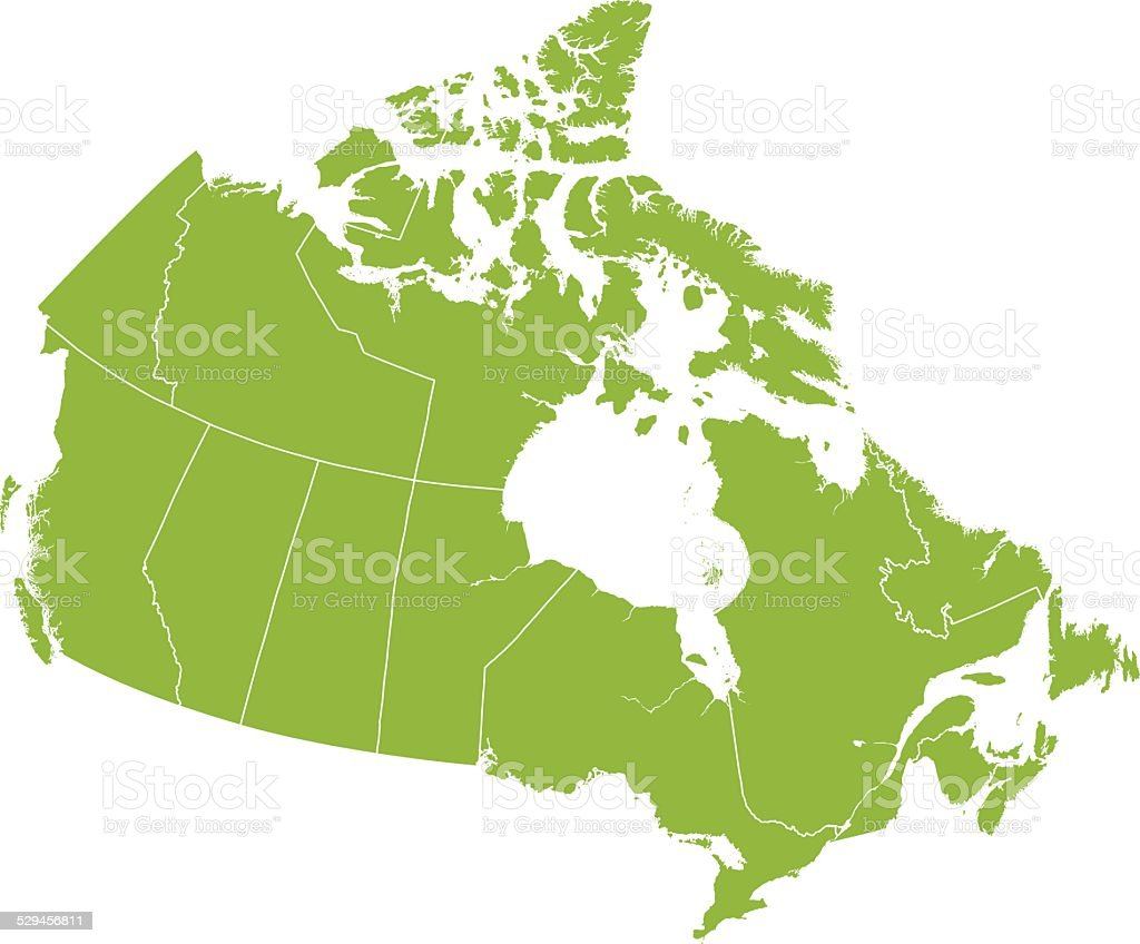 Detailed Vector Map of Canada vector art illustration