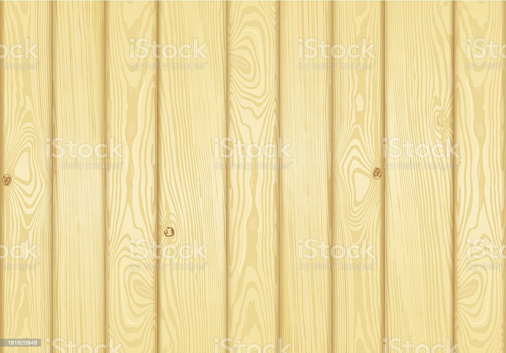 Detailed wood background vector art illustration