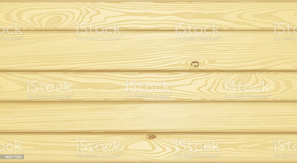 Detailed wood background vector art illustration