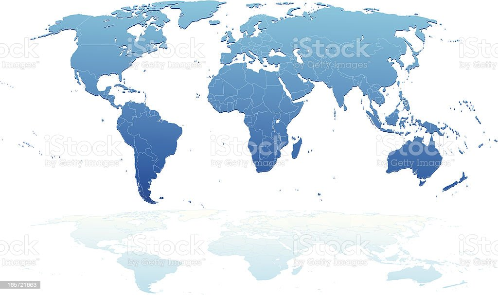Detailed world map. royalty-free stock vector art