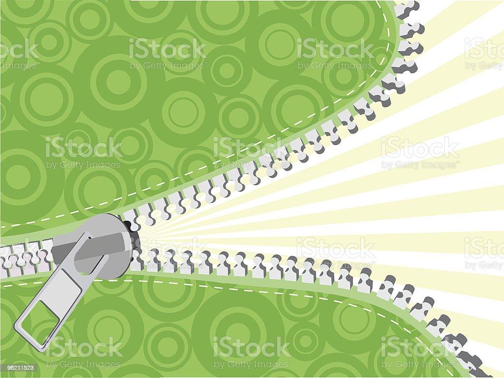 Detailed zipper vector art illustration