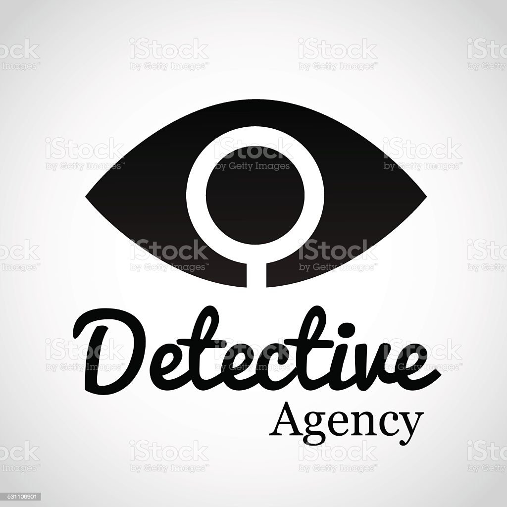 Detective Agency. vector art illustration
