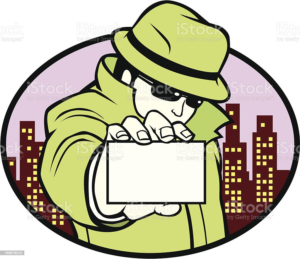 Detective Business Card royalty-free stock vector art