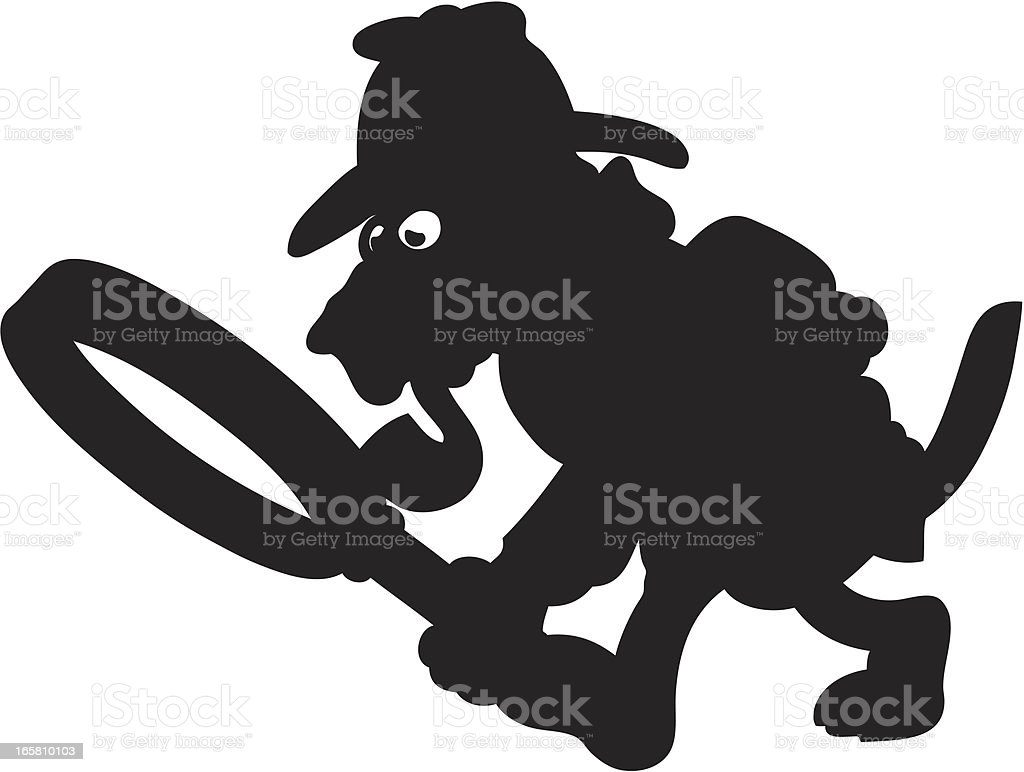 Detective Dog Silhouette royalty-free stock vector art