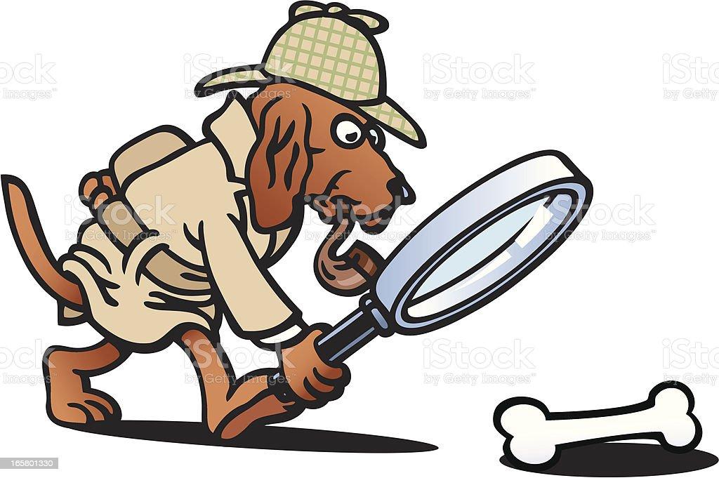 Detective Dog Stock Vector Art 165801330