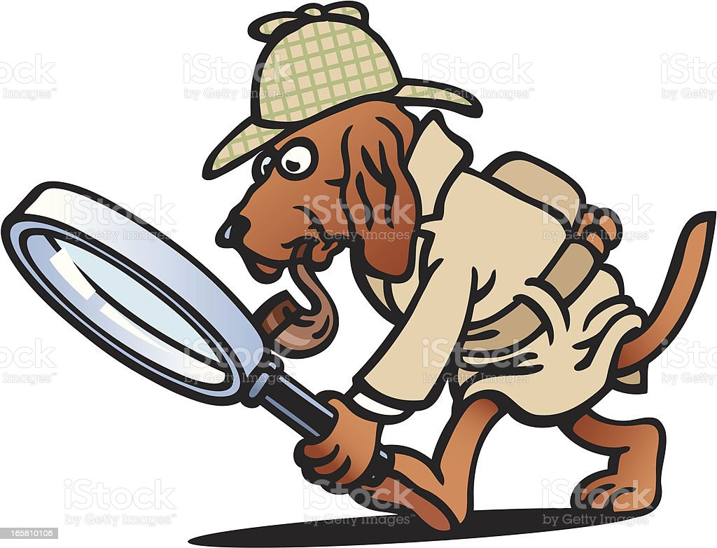 Detective Dog royalty-free stock vector art