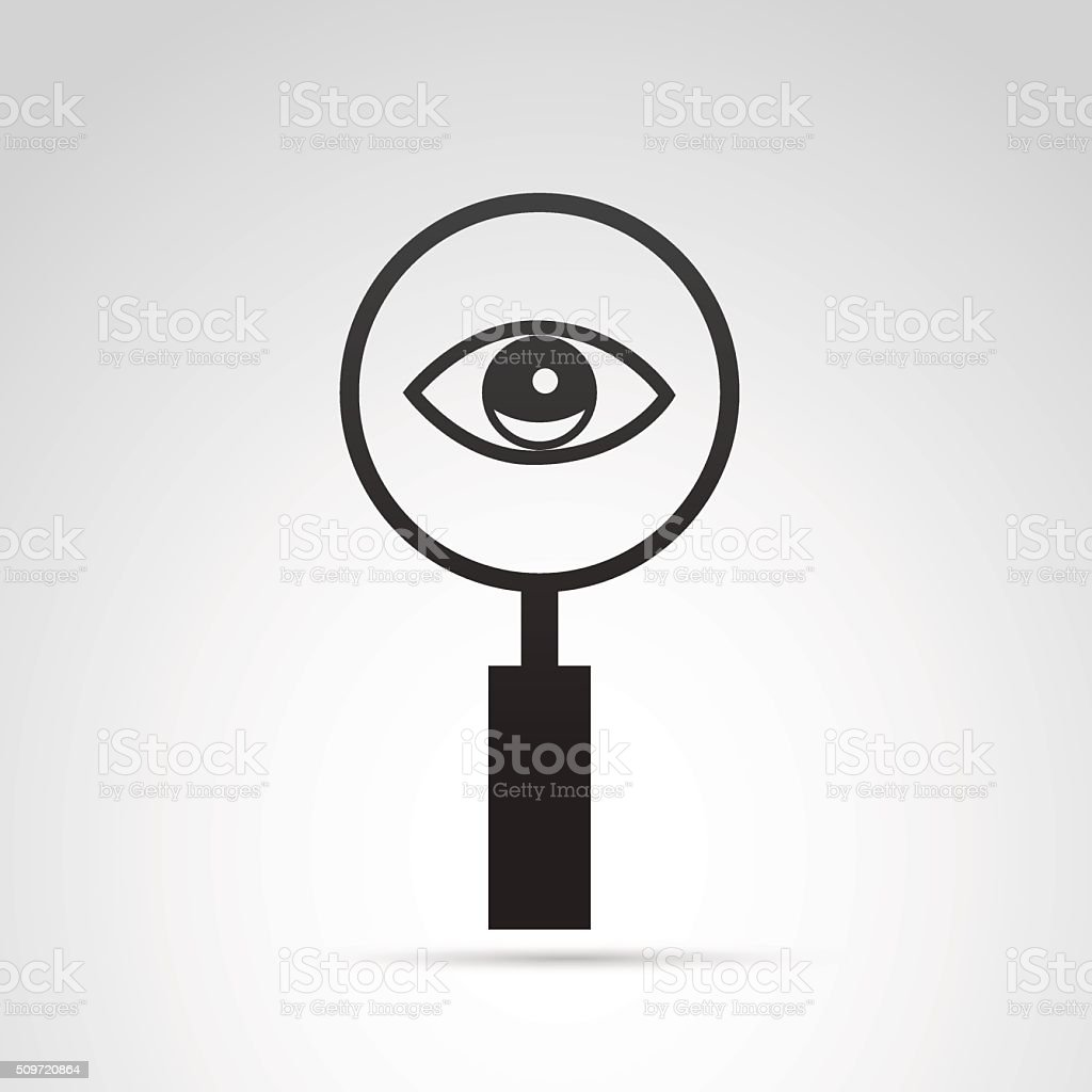 Detective icon isolated on white background. vector art illustration