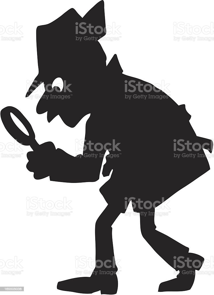 Detective royalty-free stock vector art