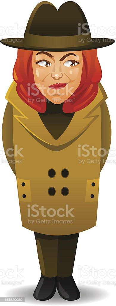 Detective Woman royalty-free stock vector art