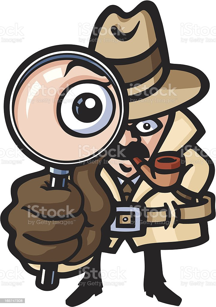Detective's looking royalty-free stock vector art
