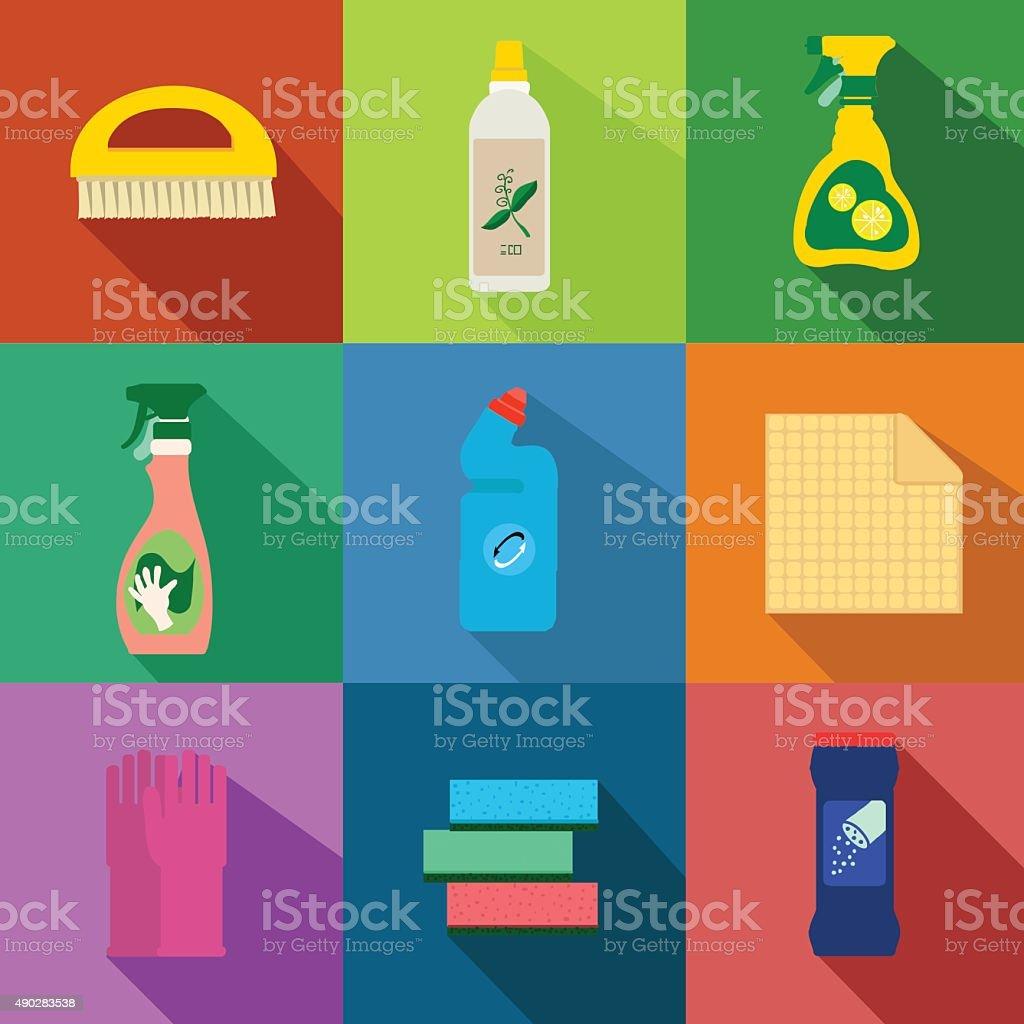 Detergents vector set vector art illustration