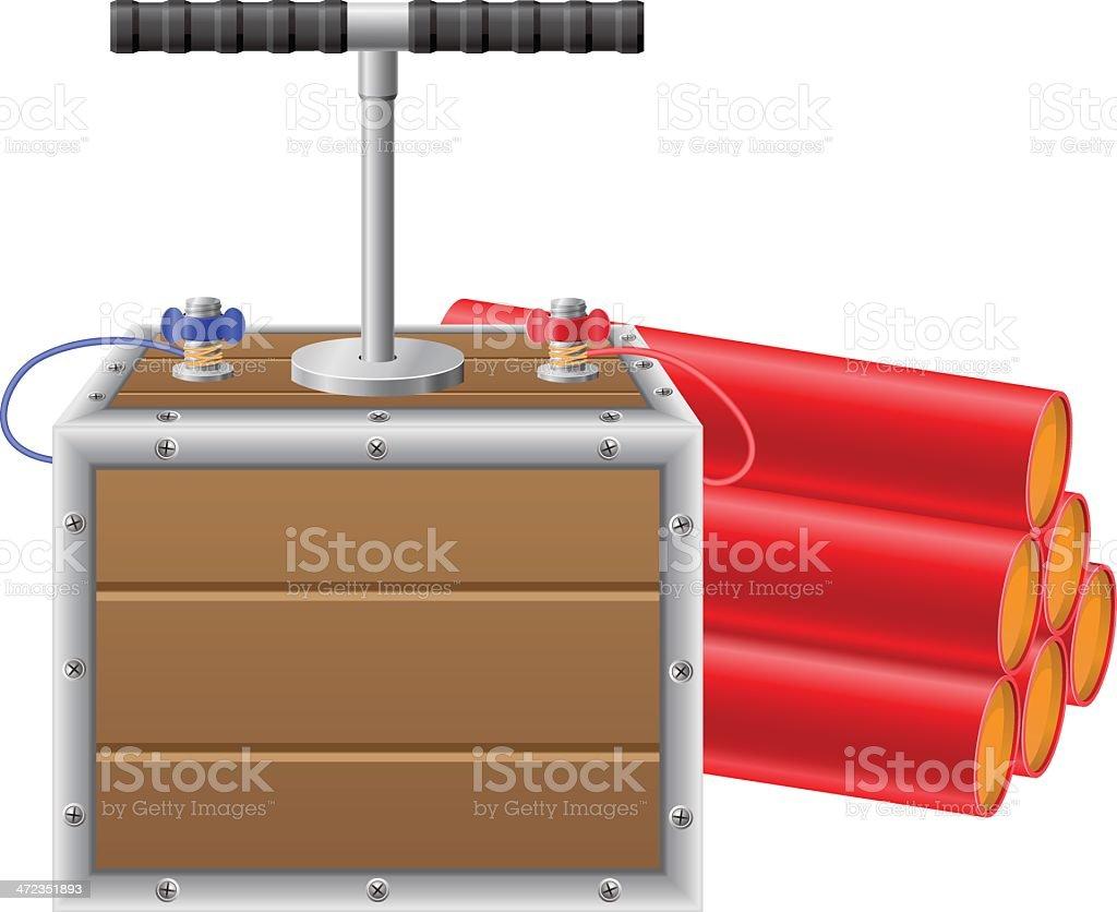 detonating fuse and dynamite vector illustration royalty-free stock vector art