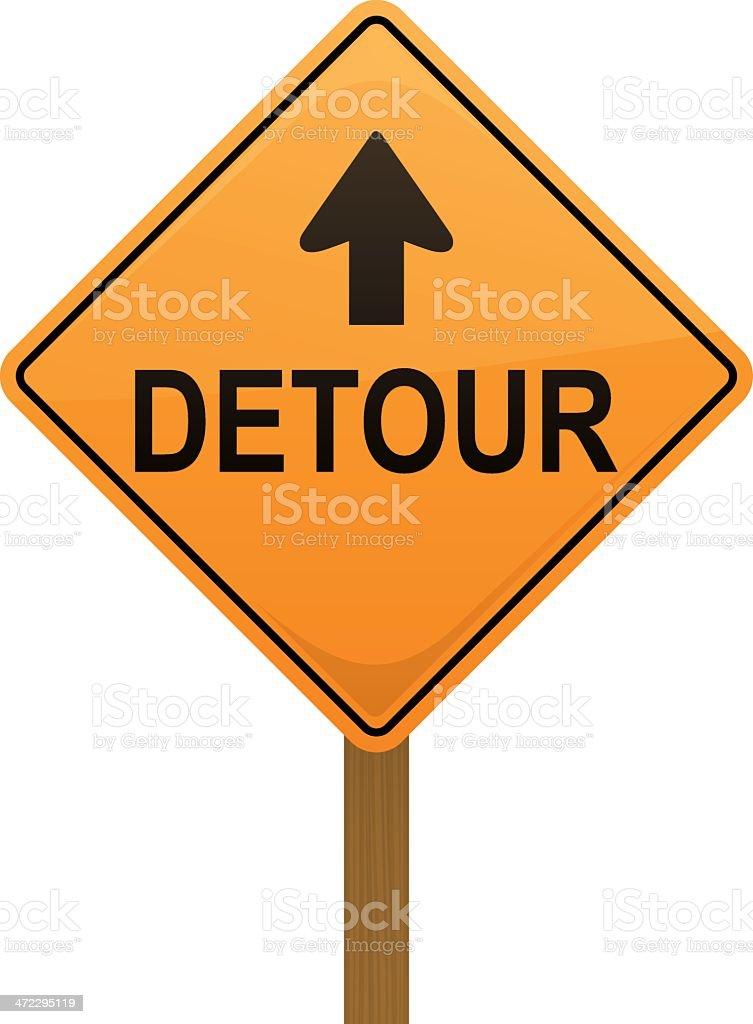 Detour Sign royalty-free stock vector art