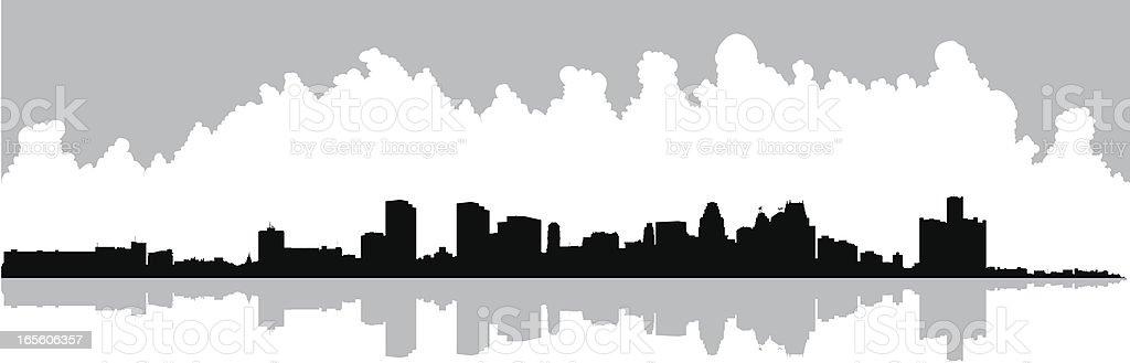 Detroit vector art illustration