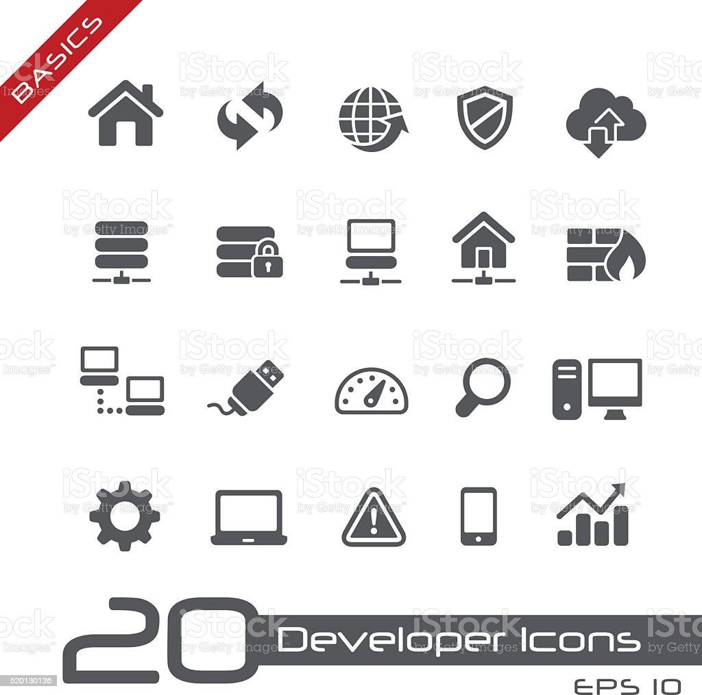 Developer Icons - Basics vector art illustration