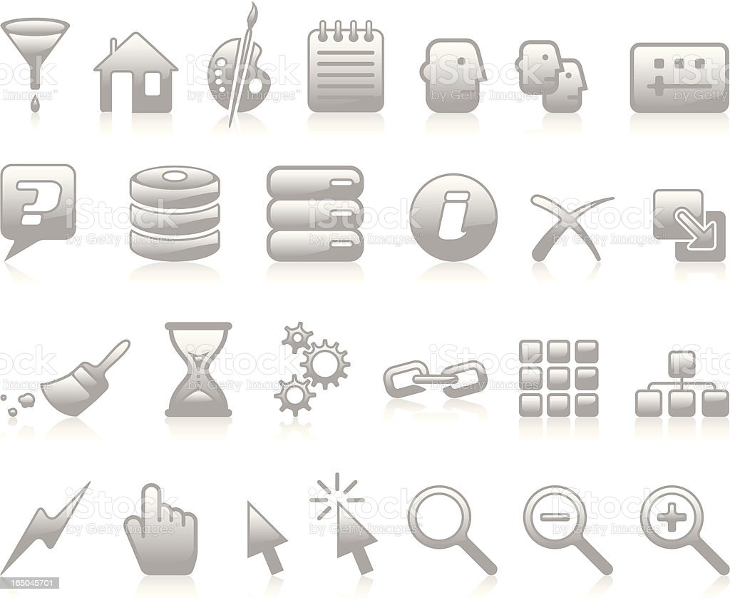 Developers Icons II - Grey royalty-free stock vector art