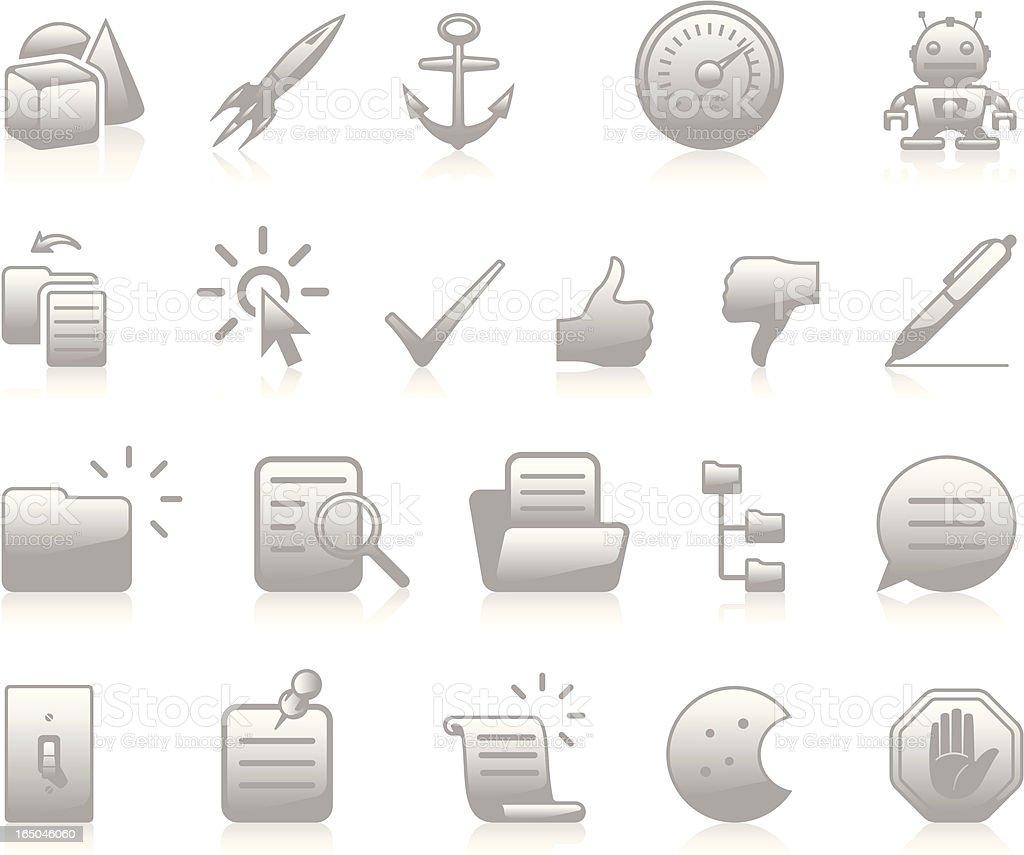 Developers Icons III - Grey vector art illustration