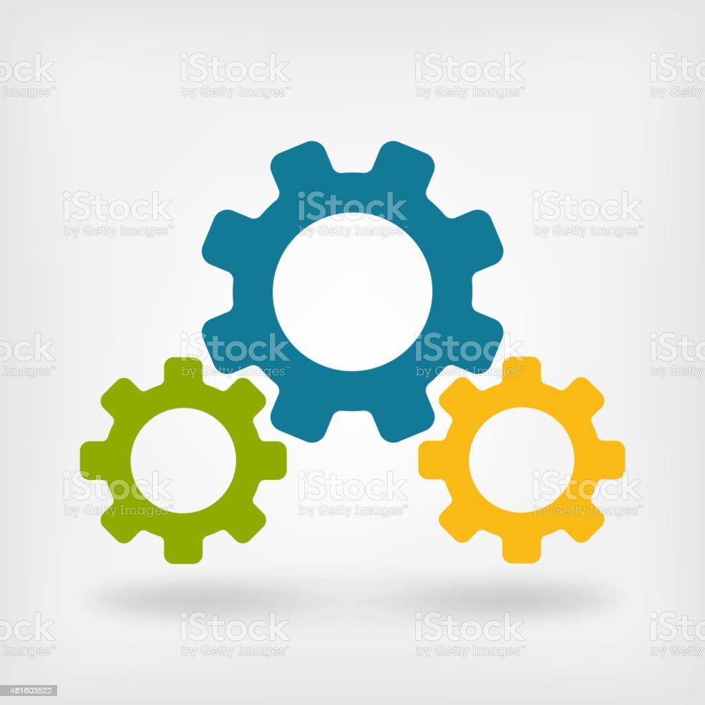 Development gears symbol vector art illustration