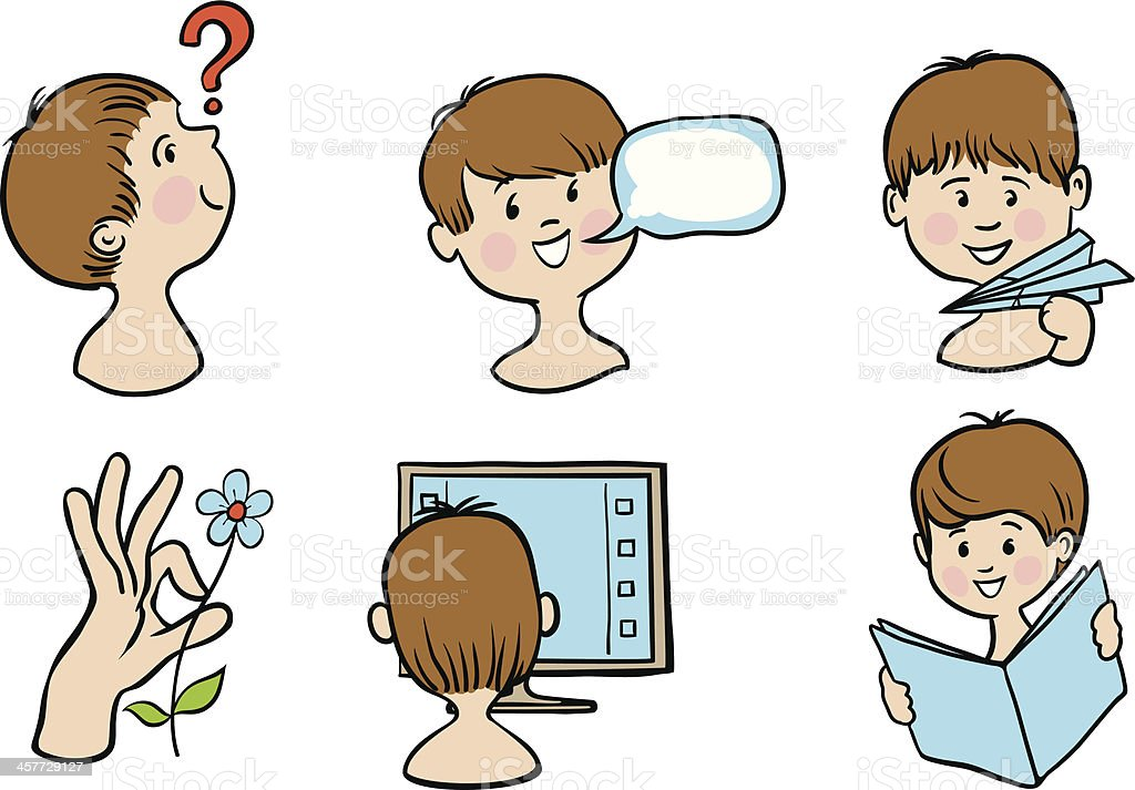 development of children royalty-free stock vector art