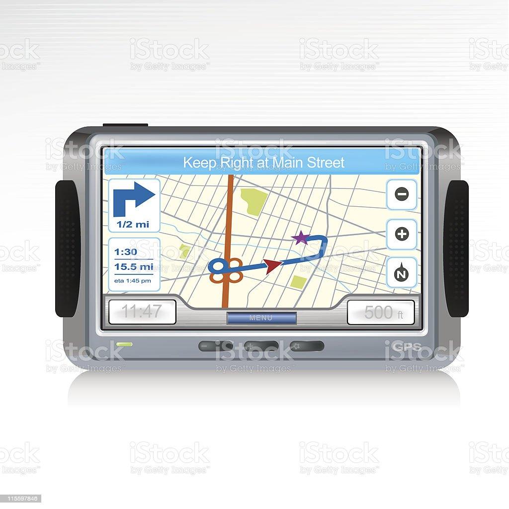 GPS Device Icon royalty-free stock vector art