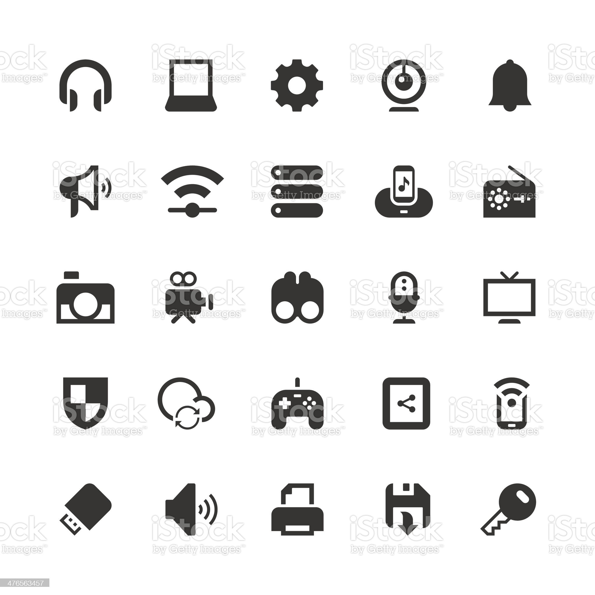 Device icon royalty-free stock vector art