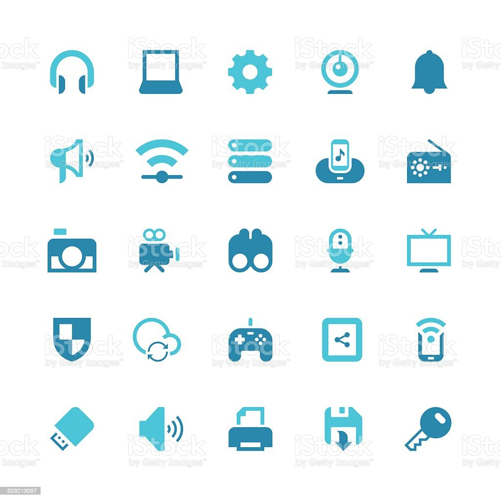 Device icon vector art illustration