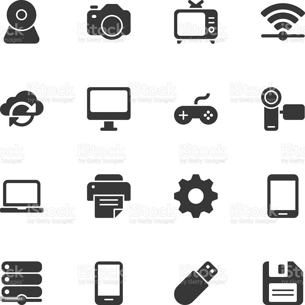 Device icons - Regular vector art illustration